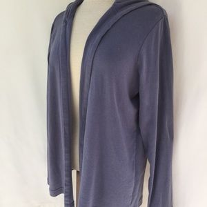 I Jill hooded open front knit cardigan size M